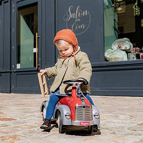Baghera Speedster Feuerwehr | Rutschfahrzeug Feuerwehrauto für Kinder mit zahlreichen lebensechten...