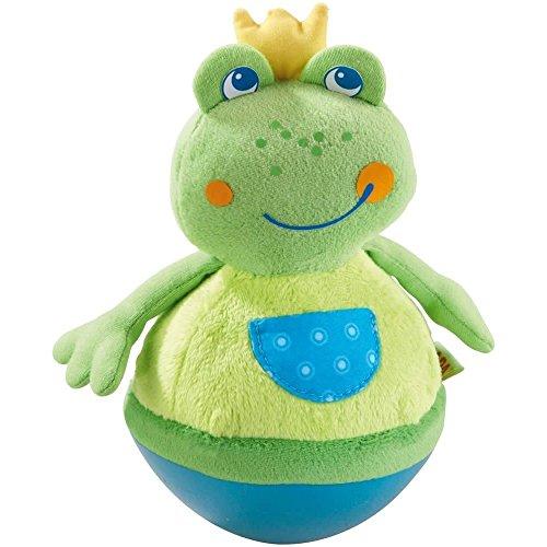 Haba 5859 - Stehauffigur Frosch Baby- und Kleinkindspielzeug, ab 6 Monaten, Motorikspielzeug aus weichem...