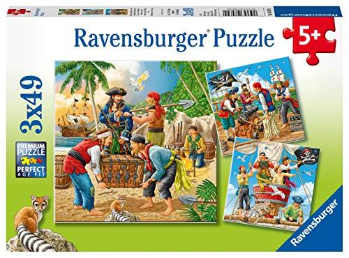 Ravensburger Kinderpuzzle - 08030 Abenteuer auf hoher See - Piraten Puzzle für Kinder ab 5 Jahren, mit...