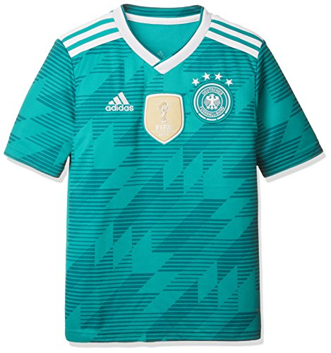 adidas Kinder Dfb Away Jersey 2018 Trikot, grün (eqt green s16/White/Real teal s10), 164