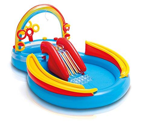 Intex Rainbow Ring Play Center - Kinder Aufstellpool - Planschbecken - 297 x 193 x 135 cm -  Für 3+...
