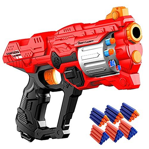 Kinder Pistole für Nerf Gun Spiel, Spielzeug Waffe mit 8 Schuss Rotationstrommel, Softpfeilen Blaster...