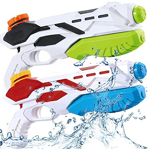 BLAZOR Wasserpistole, 2 Pack Wasserpistole mit Großer Reichweite, Kinder Water Gun Blaster Spielzeug...