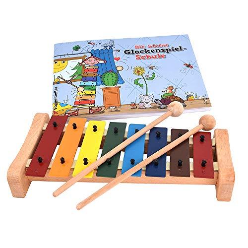 Das bunte Glockenspiel-Set von Voggenreiter Glockenspiel C-Dur mit Holzschlägel und Glockenspielschule...