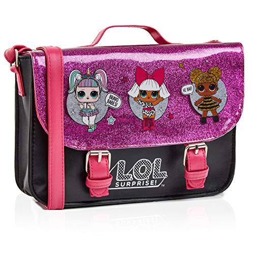 L.O.L. Surprise! LOL Puppen Handtasche Klein Rosa Glitzer Für Mädchen Mit LOL Doll Unicorn, Diva Und...