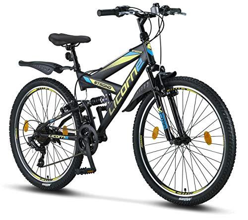 Licorne Bike Strong V Premium Mountainbike in 26 Zoll - Fahrrad für Jungen, Mädchen, Damen und Herren -...
