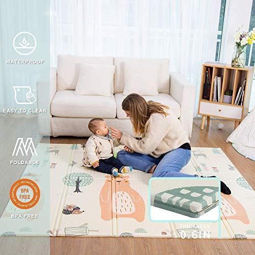 Baby Spiel Matte Spielmatte Verdickte Vergrößerte Schaumstoffmatte Faltbare Krabbelmatte Wasserdicht...