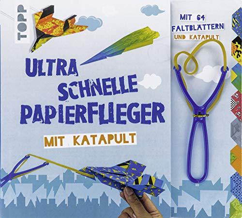 Ultra schnelle Papierflieger mit Katapult: Anleitungen, Faltblätter und Katapult für die schnellsten...