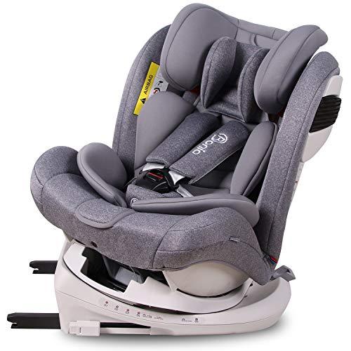 Bonio Kindersitz 360° Drehbar Gruppe 0+/1/2/3, Ab Geburt bis ca. 12 Jahre 0-36kg Autositz mit Isofix...