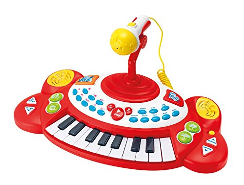 Winfun Beat Bop Keyboard 18 Tasten Klavier mit Mikrofon Sounds uvm
