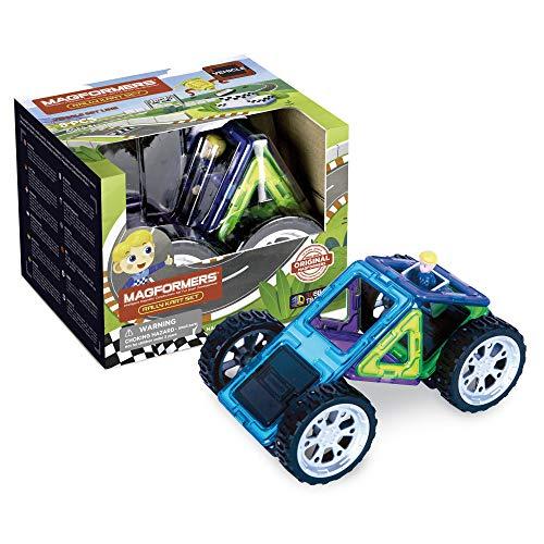 MAGFORMERS 707016 Rally Kart Boy Racer Bausatz, Mehrfarbig, 15 x 11.7 x 12.5 cm