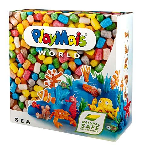 PlayMais World Sea Bastel-Set für Kinder ab 5 Jahren | Circa 1000 Stück, Vorlagen & Anleitungen zum...