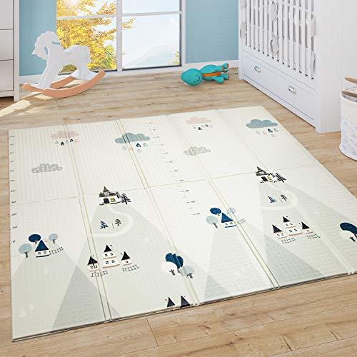 Paco Home Spielmatte Krabbelmatte Baby Kinder Matte Faltbar Abwaschbar Wendbar Tiere ABC, Grösse:150x200...