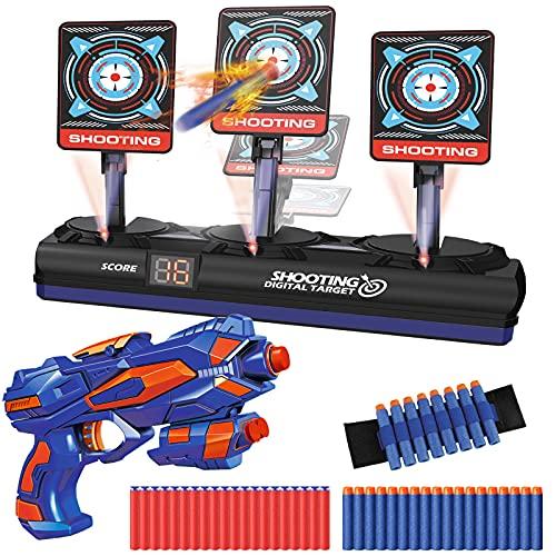 Zielscheibe für Nerf Pistole, Elektronisches Digitales Ziel mit 1 Blaster, 40 Schaumstoff...