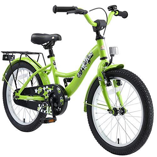 BIKESTAR Kinderfahrrad für Jungen ab 5 Jahre | 18 Zoll Kinderrad Classic | Fahrrad für Kinder Grün |...