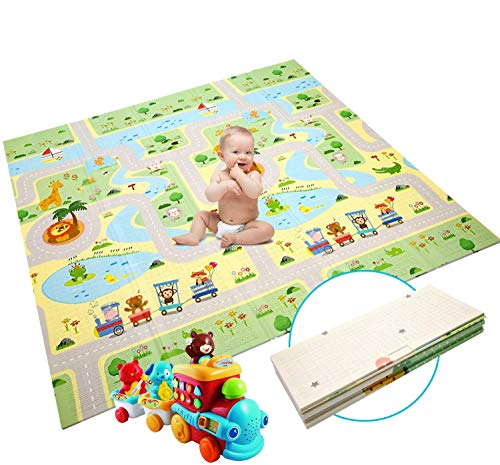 Baby Spielmatte Extra große Babyspielmatte faltbare reversible ungiftige Schaum Crawl Playmat...