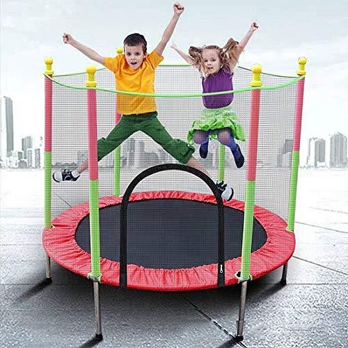 Fitness Trampolin 3-12 Jahre Kind Trampolin, 5 FT Kindertrampolin Mit Enclosure Net Sprungmatte Und...