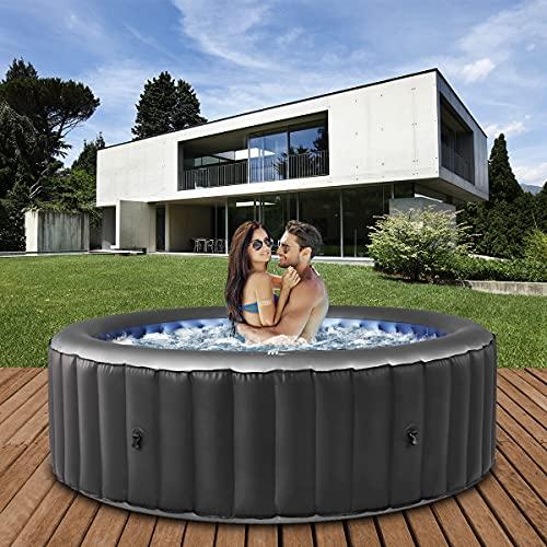 Miweba MSpa aufblasbarer Whirlpool 2021 Comfort Bergen C-BE061 - für 6 Personen - 138 Luftdüsen - 204.0...