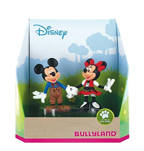 Bullyland 15081 - Spielfigurenset, Walt Disney Mickey in Lederhose und Minnie im Dirndl, liebevoll...