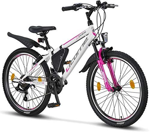 Licorne Bike Guide Premium Mountainbike in 24 Zoll - Fahrrad für Mädchen, Jungen, Herren und Damen -...