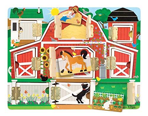 Melissa & Doug Hide & Seek Farm (Developmental Toys, Magnetic Puzzle Board, Sturdy Wooden Construction, 9...
