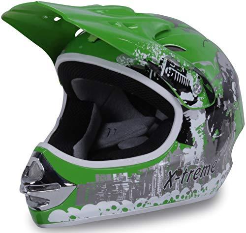 Actionbikes Motors Motorradhelm Kinder Cross Helme Sturzhelm Schutzhelm Helm für Motorrad Kinderquad und...