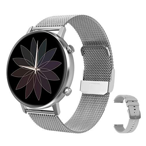 RIGHT TECHNOLOGY SCHARM Smartwatch für Damen,1.3 Zoll Touch-Farbdisplay. Fitness Armbanduhr mit Pulsuhr...