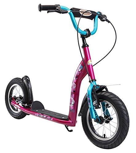 BIKESTAR Roller Kinderroller Tretroller Kickscooter mit Luftreifen für Mädchen ab 6 - 7 Jahre   12 Zoll...