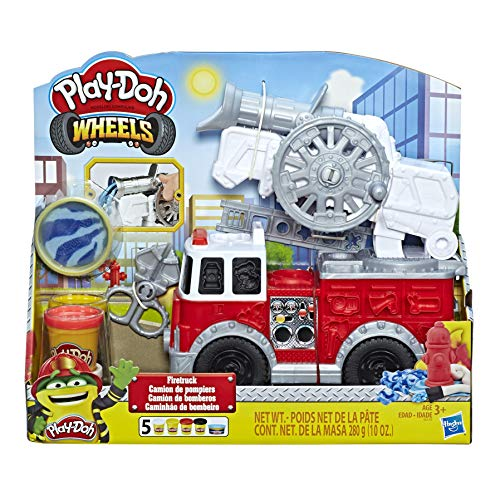 Play-Doh Wheels Feuerwehrauto Spielzeug mit 5 Dosen Play-Doh einschließlich Play-Doh Wasserknete, für...