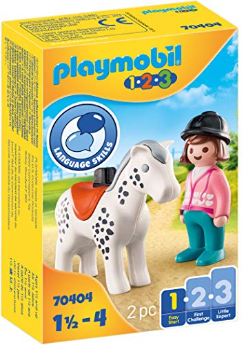 PLAYMOBIL 1.2.3 70404 Reiterin mit Pferd, Ab 1,5 bis 4 Jahre