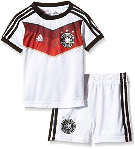 adidas Kinder Trainingsshirt und shorts DFB Babykit Away WM, Weiß / Schwarz, 86, G75067