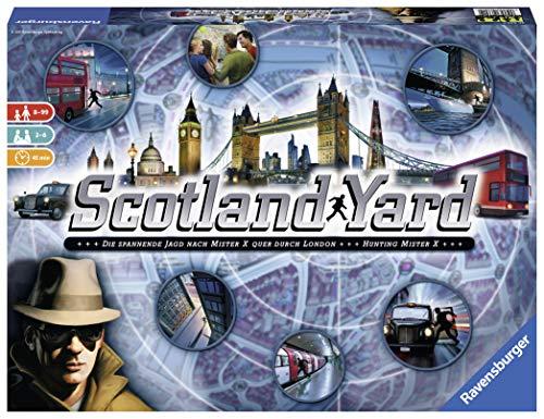 Ravensburger Scotland Yard, Brettspiel, Gesellschafts- und Familienspiel, für Kinder und Erwachsene,...