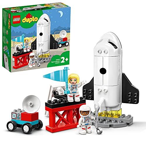 LEGO 10944 DUPLO Spaceshuttle Weltraummission Rakete Spielzeug für Kleinkinder ab 2 Jahre mit...