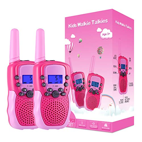 Kearui Spielzeug 3-12 Jahren für mädchen, Walkie Talkies für Kinder 8 Kanal Funkgerät mit...