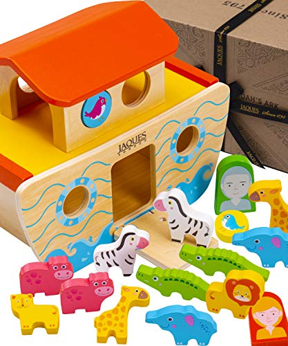 Jaques of London Arche Noah   Spielzeug 1 2 3 Jahr Junge und Mädchen   Holzspielzeug 1 2 3 Jahr  ...