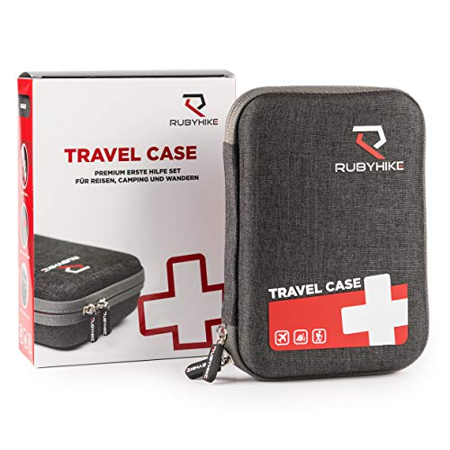 Erste-Hilfe-Travel-Case - Notfalltasche inkl. Inhalt für unterwegs - First Aid Kit für Reisen, Wandern,...
