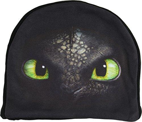 Dreamworks Dragons Kinder Mütze Ohnezahn Augen, schwarz
