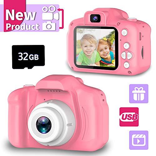 Spielzeuge für 3-6 Jahre Mädchen YORKOO Kinder Kamera HD 1080P Digitalkamera für Kinder Fotoapparat...