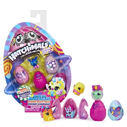 Hatchimals 6056399 - CollEGGtibles Cosmic Candy Multipack mit 4 Hatchimals Sammelfiguren