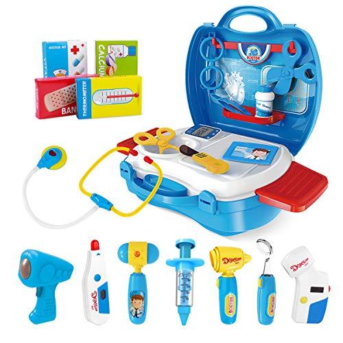 iBaseToy Arztkoffer Kinder, Doktorkoffer zum Rollenspiel Doktor Medizinisches Kit Spielzeug Arzt Spielset...
