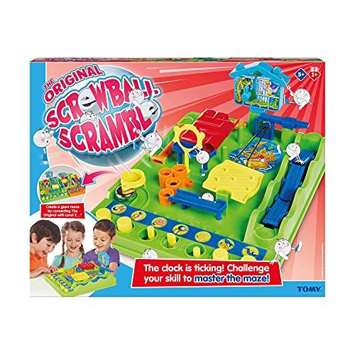 TOMY T7070 Kinderspiel Crazy Ball (Tricky Golf), Hochwertiges Kinderspielzeug, Mini Spiele,...