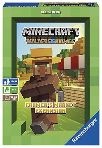 Ravensburger 26869 - Minecraft Builders & Biomes Farmers Market Expansion - Erweiterung zum Brettspiel...