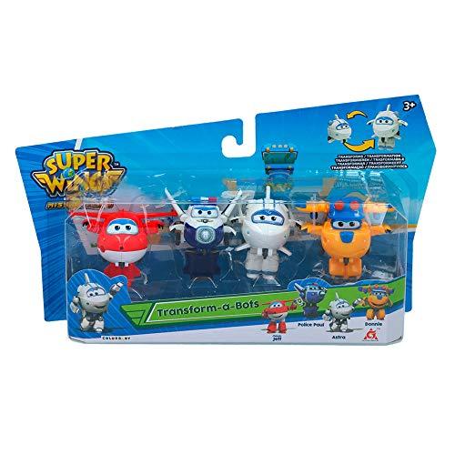 Super Wings - 4 Super Wings Transform-a-Bots Transform-A-Figuren (85361)