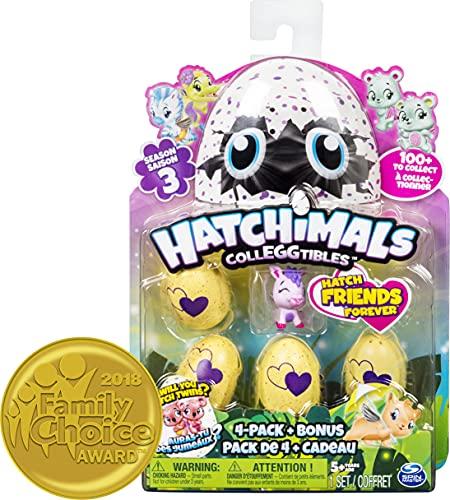 Hatchimals CollEGGtibles 4 Pack + Bonus S3