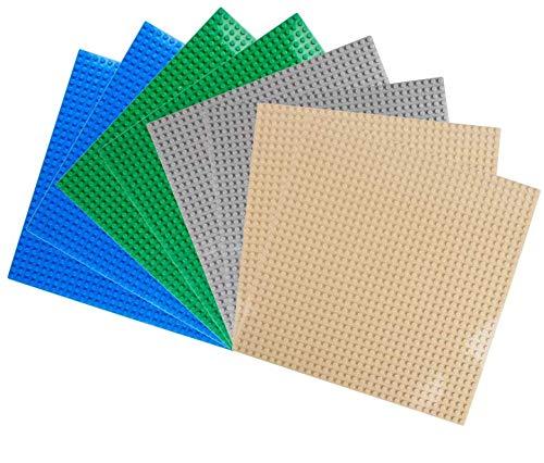 LVHERO 8 Platten-Set Bauplatte Kompatibel mit Meisten Marken, 25*25 cm, Kreatives Spielen, Lernspielzeug...