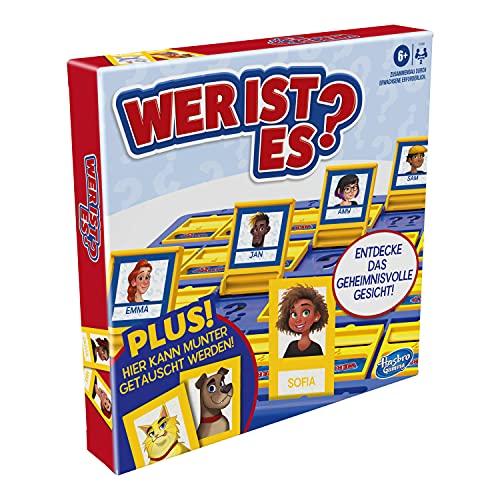Hasbro Wer ist es? Brettspiel mit Personen und Tieren, das Originale Ratespiel für Kinder ab 6 Jahren,...