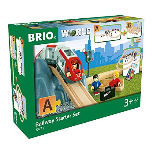 9. Auf der richtigen Spur bleiben mit einer Holzeisenbahn