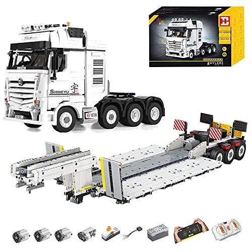 ASPAS Technik LKW mit Anhänger, YC-GC007 Technik LKW, 4478 Teile Technic Truck mit 4 Motoren,...