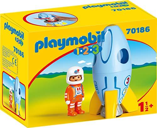 Playmobil 70186 1.2.3 Astronaut mit Rakete, bunt