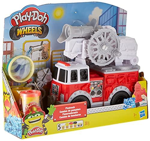 Play-Doh E6103EU5 Wheels Feuerwehrauto Spielzeug mit 5 Dosen einschließlich Wasserknete, für...